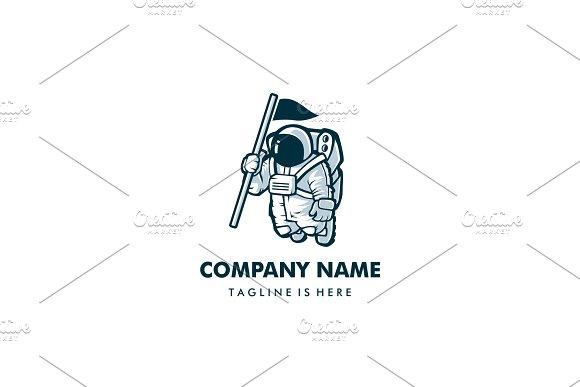 astronaut with flag logo logo templates creative market