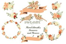 Floral Wreaths, Banners & Flowers 2