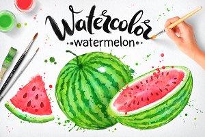 Watercolor Watermelon