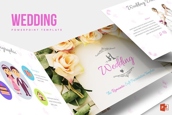 Wedding Powerpoint Template Presentation Templates Creative Market
