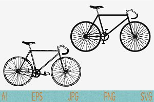 bicycle, race road bike vector svg