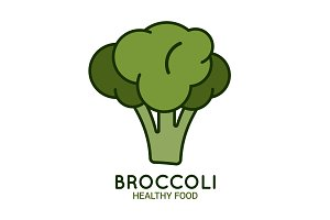 Broccoli logo on white background.