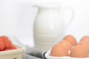 Fresh Eggs & Tomatoes