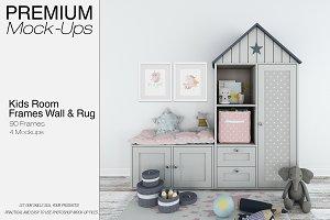 Kids Room - 90 Frames Wall & Rug Set