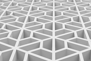 White hexagons shape pattern texture