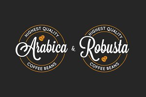 Coffee Arabica and Robusta logo.