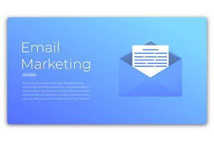E-mail marketing. Web concept