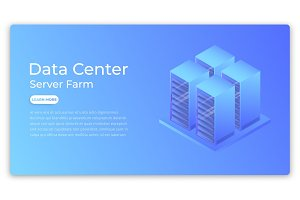 Data center. Datacenter server farm