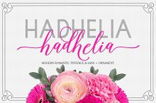 Hadhelia Script Font Duo + Ornament