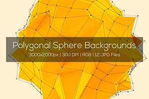 Polygonal Sphere Backgrounds