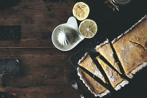 Rustic homemade tarte au citron
