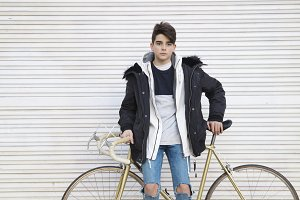 young fashioned vintage bike on the