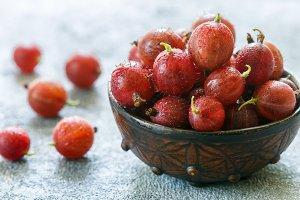 Fresh ripe organic gooseberry