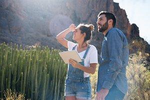 Man and woman looking at the horizon