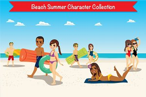8 Beach Summer Character Collection
