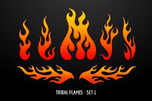 Tribal Flames - Set 1
