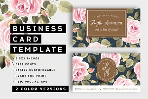 Roses – business card