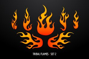 Tribal Flames - Set 2