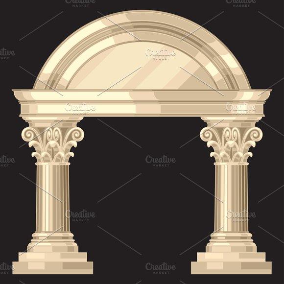 Corinthian temple with columns.