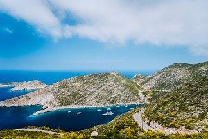 Blue sea bay of mediterranean sea in