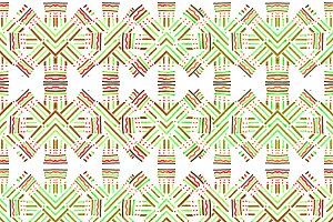 Intersecting Linear Ethnic Seamles P