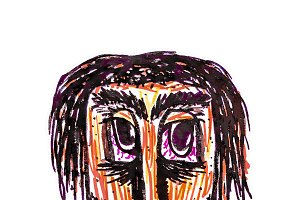 Expressionist Style Man Portrait Dra