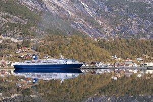 Cruise ship in the Hardangerfjord
