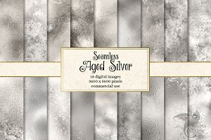 Aged Silver Textures