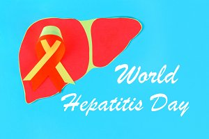World Hepatitis Day. June 28th. Red