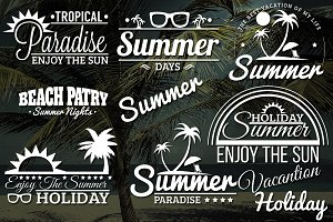 8 Summer Retro Labels