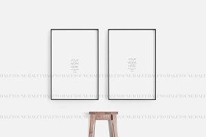 Frame Mockup Thin Large Minimalist