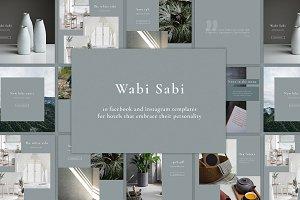Wabi Sabi - social media pack