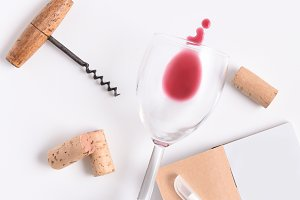 Blank Wine Tasting Notebook with Pen