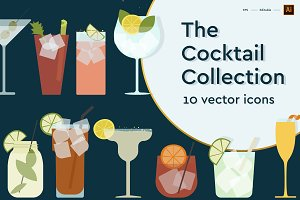 Cocktail Icon set