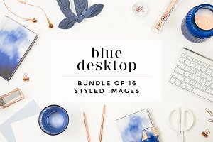 Navy + Blue Styled Desktop Bundle
