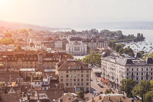 View of Historic Zurich City