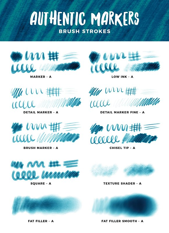 Multi-tonal Markers for Procreate in Photoshop Brushes - product preview 16
