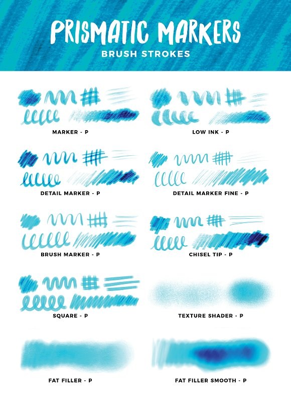 Multi-tonal Markers for Procreate in Photoshop Brushes - product preview 17