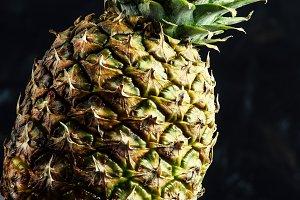 Fresh ripe pineapple, selective focu