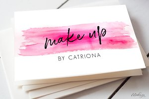 Watercolour Make Up Business Card