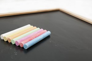 blackboard with chalk