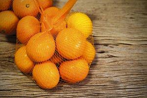 Mandarin orange in package
