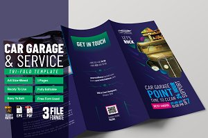 Car Garage Tri-Fold Template