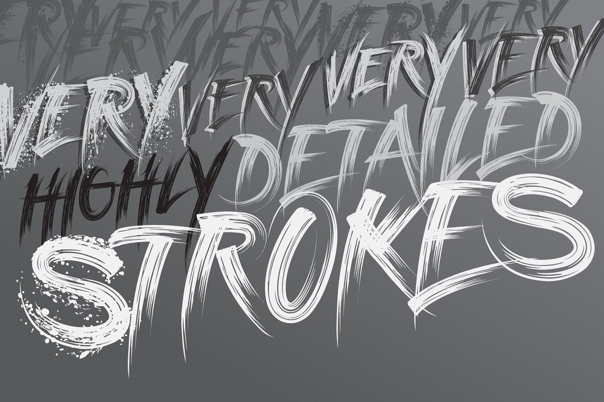 Strokes Font Family in Graffiti Fonts - product preview 1