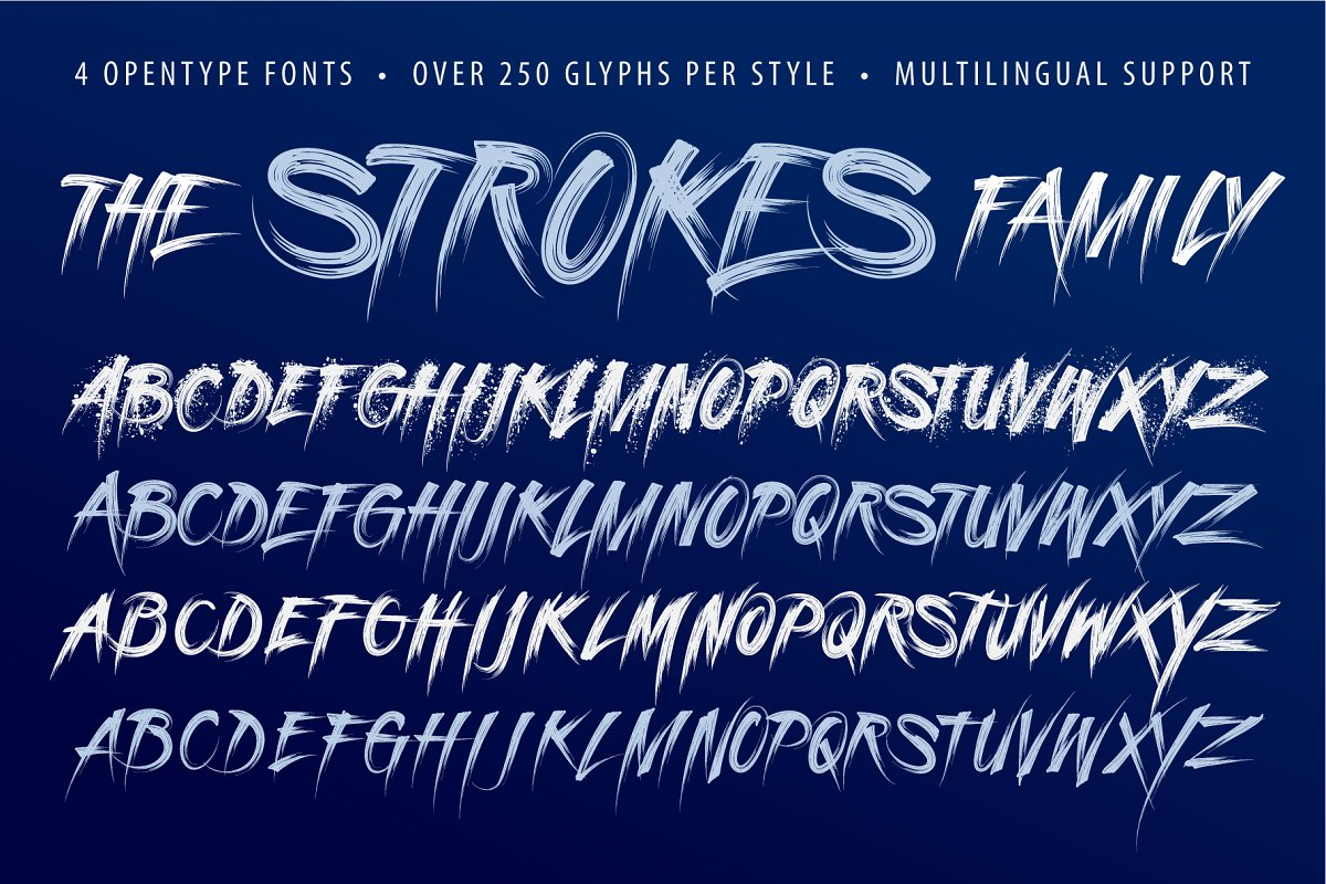 Strokes Font Family in Graffiti Fonts - product preview 3