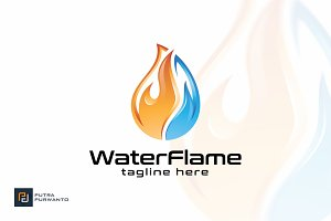 Water Flame - Logo Template