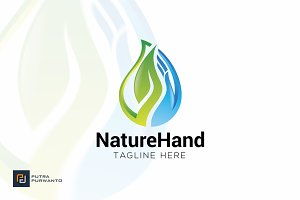 Nature Hand - Logo Template