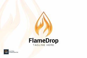 Flame Drop - Logo Template