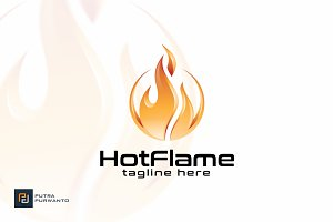 Hot Flame - Logo Template