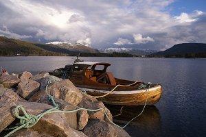 Boat in lake Nisser
